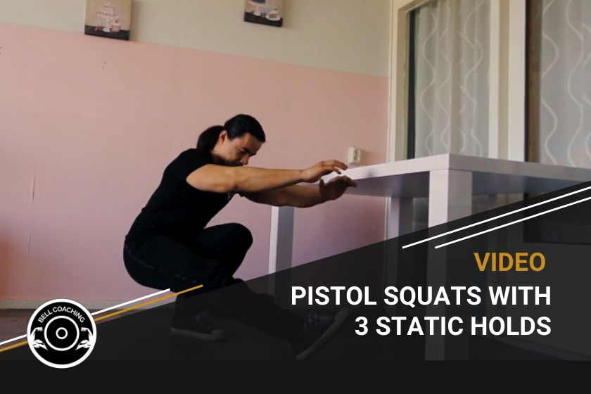 Pistol Squats With 3 Static Holds