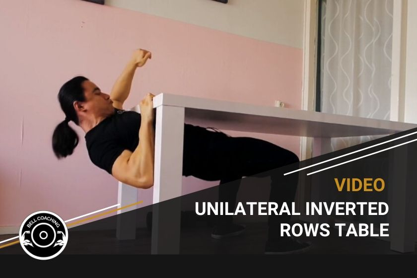 Unilateral Inverted Rows Table
