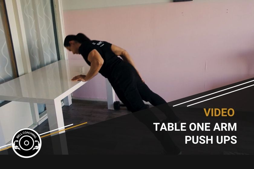 Table One Arm Push Ups