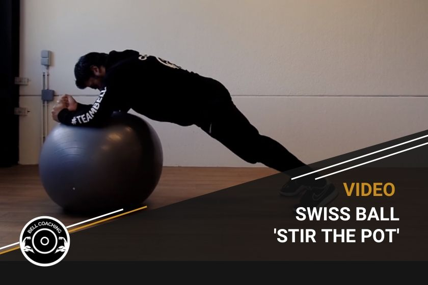 Swiss Ball 'Stir the Pot'